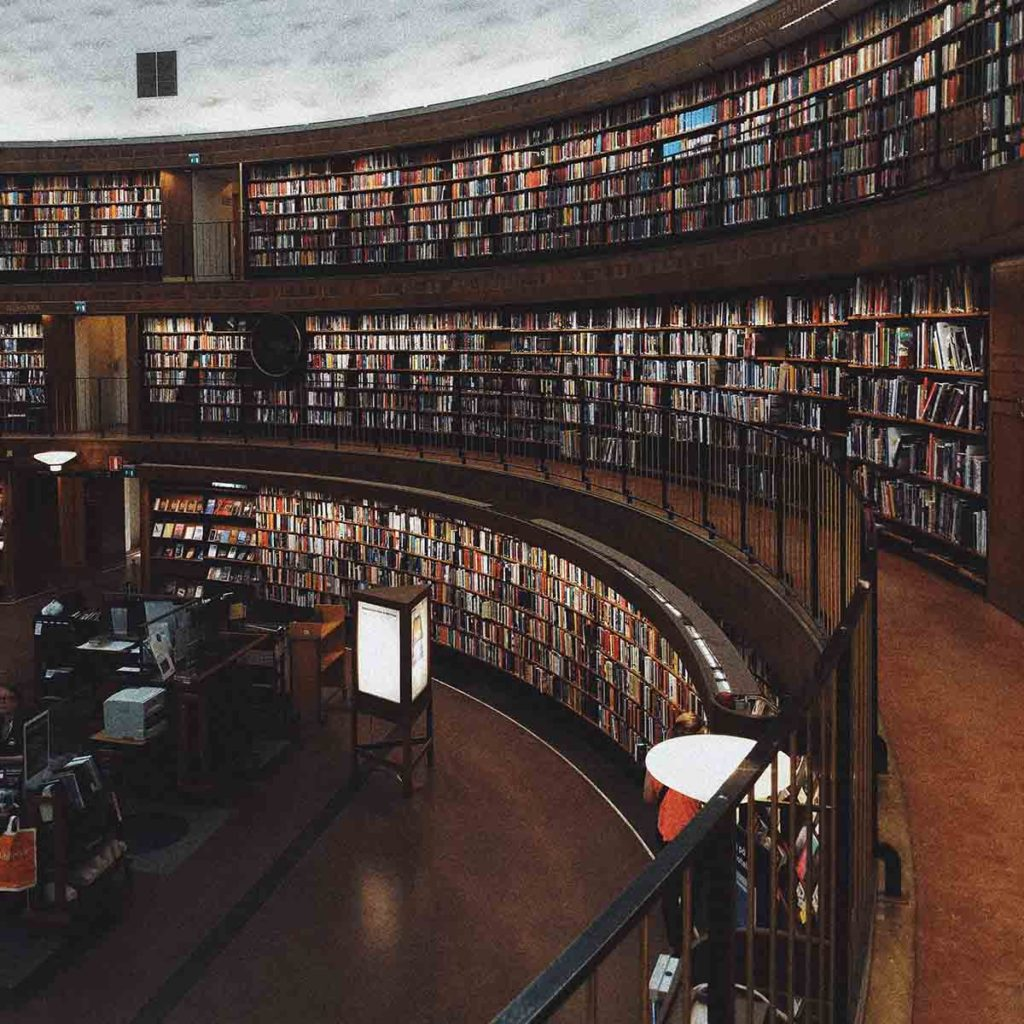 Large oval research library